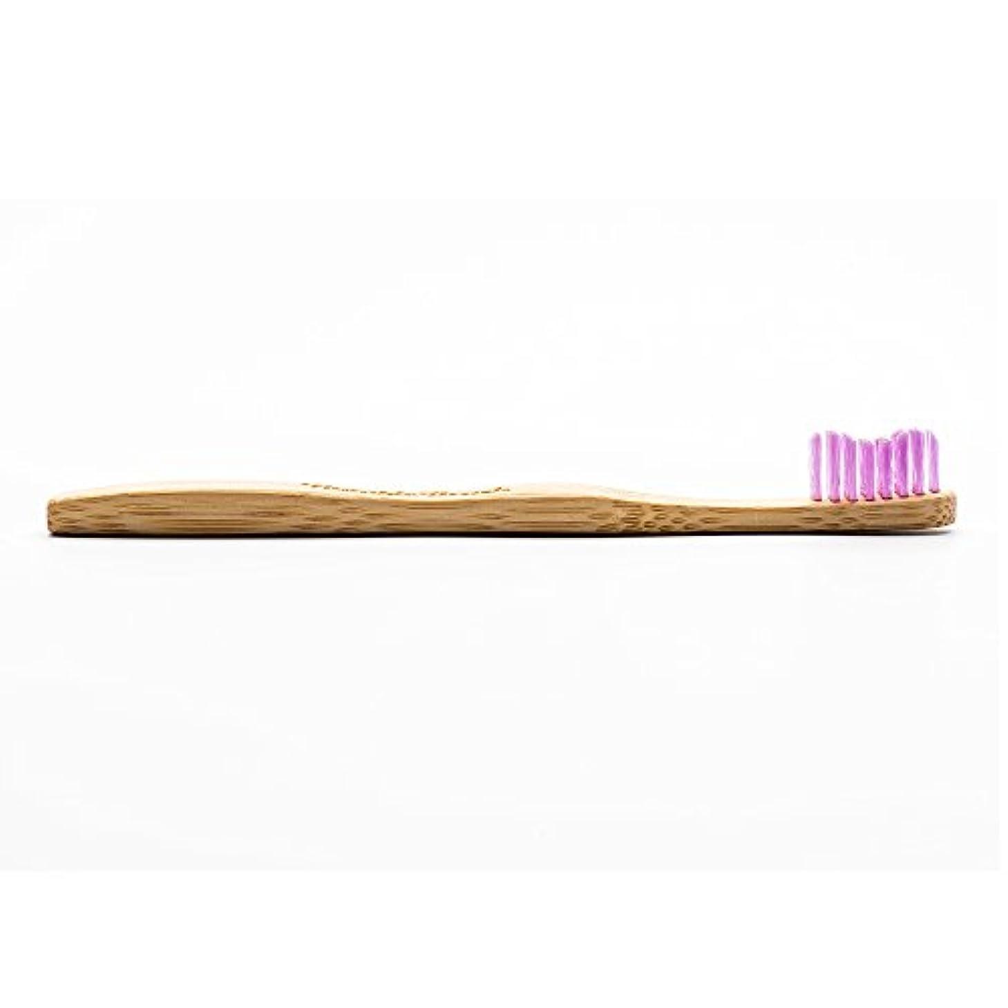 腐敗したばかげた処分したHUMBLE BRUSH(ハンブルブラッシュ) 歯ブラシ キッズ パープル