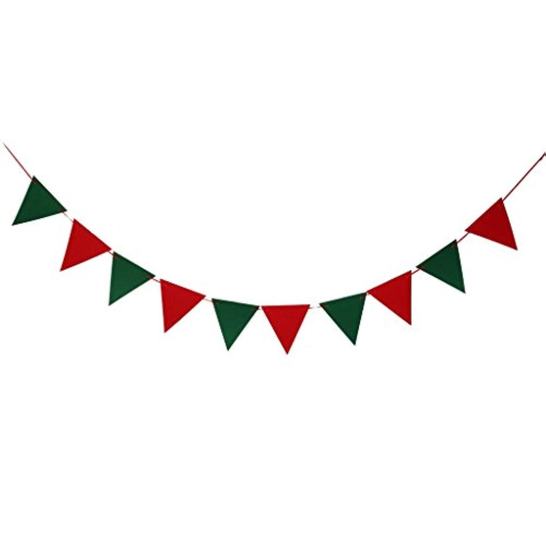 【ノーブランド品】バナー ガーランド  パーティー 小物 ウエディング グッズ 結婚式 アイテム 壁飾り 三角旗 クリスマス