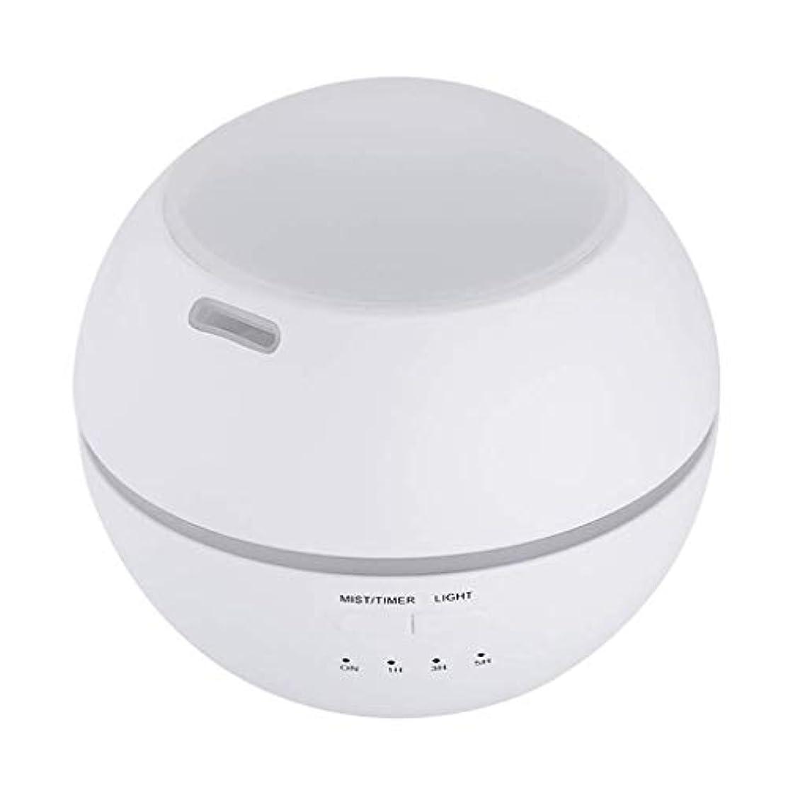 大きさ整理するエキス加湿器、ポータブルアロマテラピーランプ、エッセンシャルオイルディフューザー加湿器、LEDランプの色を変える、空気清浄アロマテラピーマシン、サイレント家庭用 (Color : 白)