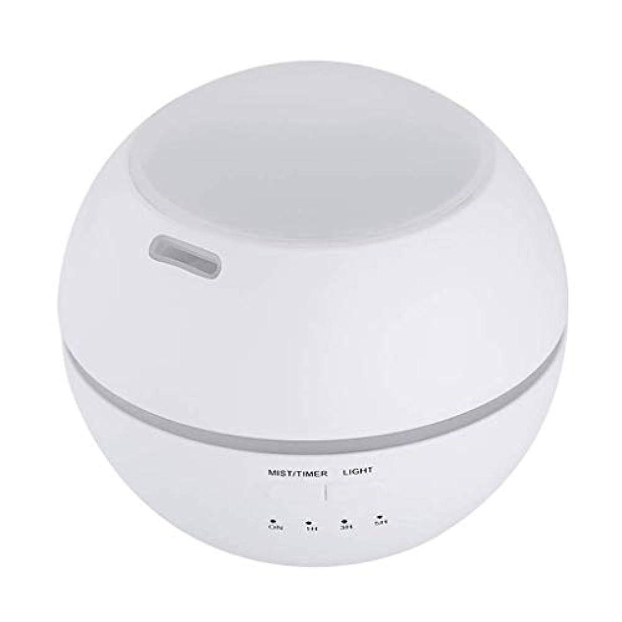 快い電気そして加湿器、ポータブルアロマテラピーランプ、エッセンシャルオイルディフューザー加湿器、LEDランプの色を変える、空気清浄アロマテラピーマシン、サイレント家庭用 (Color : 白)
