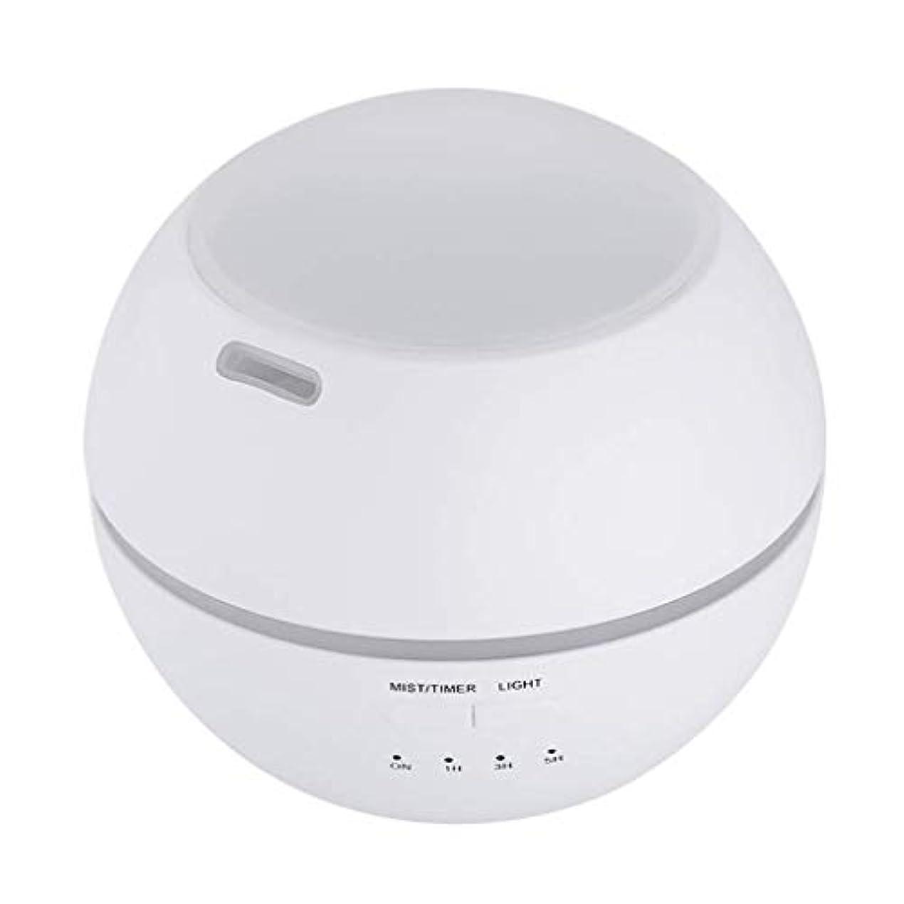 ロボット貪欲対加湿器、ポータブルアロマテラピーランプ、エッセンシャルオイルディフューザー加湿器、LEDランプの色を変える、空気清浄アロマテラピーマシン、サイレント家庭用 (Color : 白)