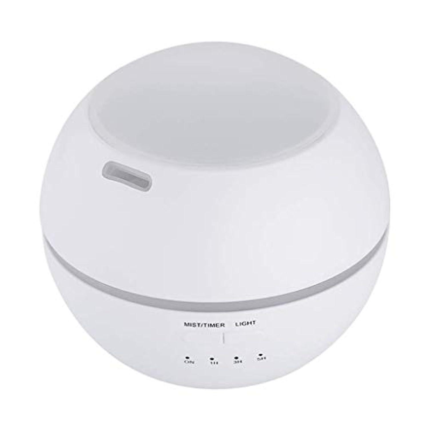 不機嫌そうな謎めいた振りかける加湿器、ポータブルアロマテラピーランプ、エッセンシャルオイルディフューザー加湿器、LEDランプの色を変える、空気清浄アロマテラピーマシン、サイレント家庭用 (Color : 白)