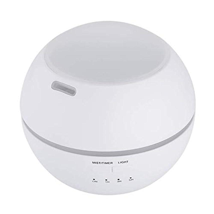 加湿器、ポータブルアロマテラピーランプ、エッセンシャルオイルディフューザー加湿器、LEDランプの色を変える、空気清浄アロマテラピーマシン、サイレント家庭用 (Color : 白)