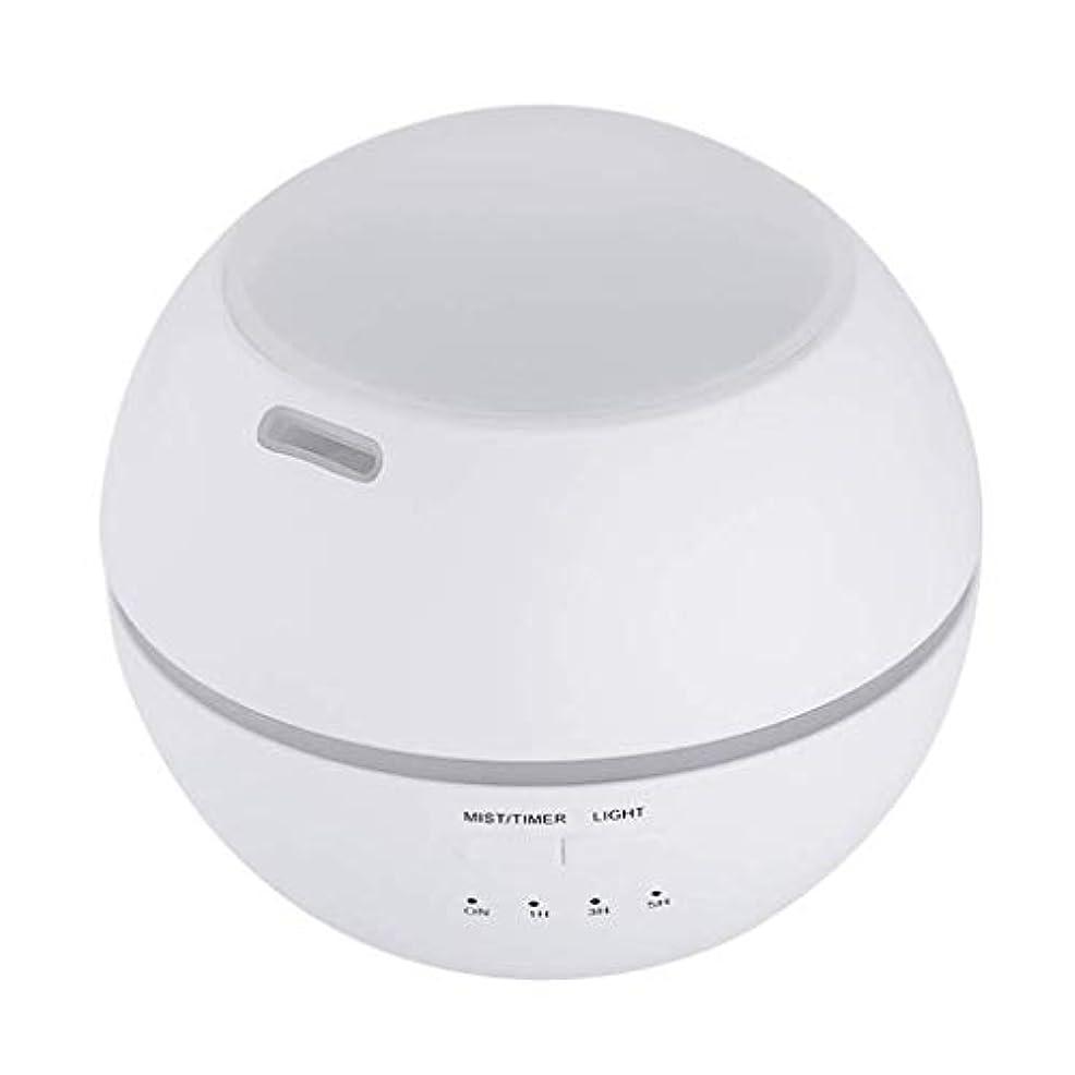 郡毎年再び加湿器、ポータブルアロマテラピーランプ、エッセンシャルオイルディフューザー加湿器、LEDランプの色を変える、空気清浄アロマテラピーマシン、サイレント家庭用 (Color : 白)
