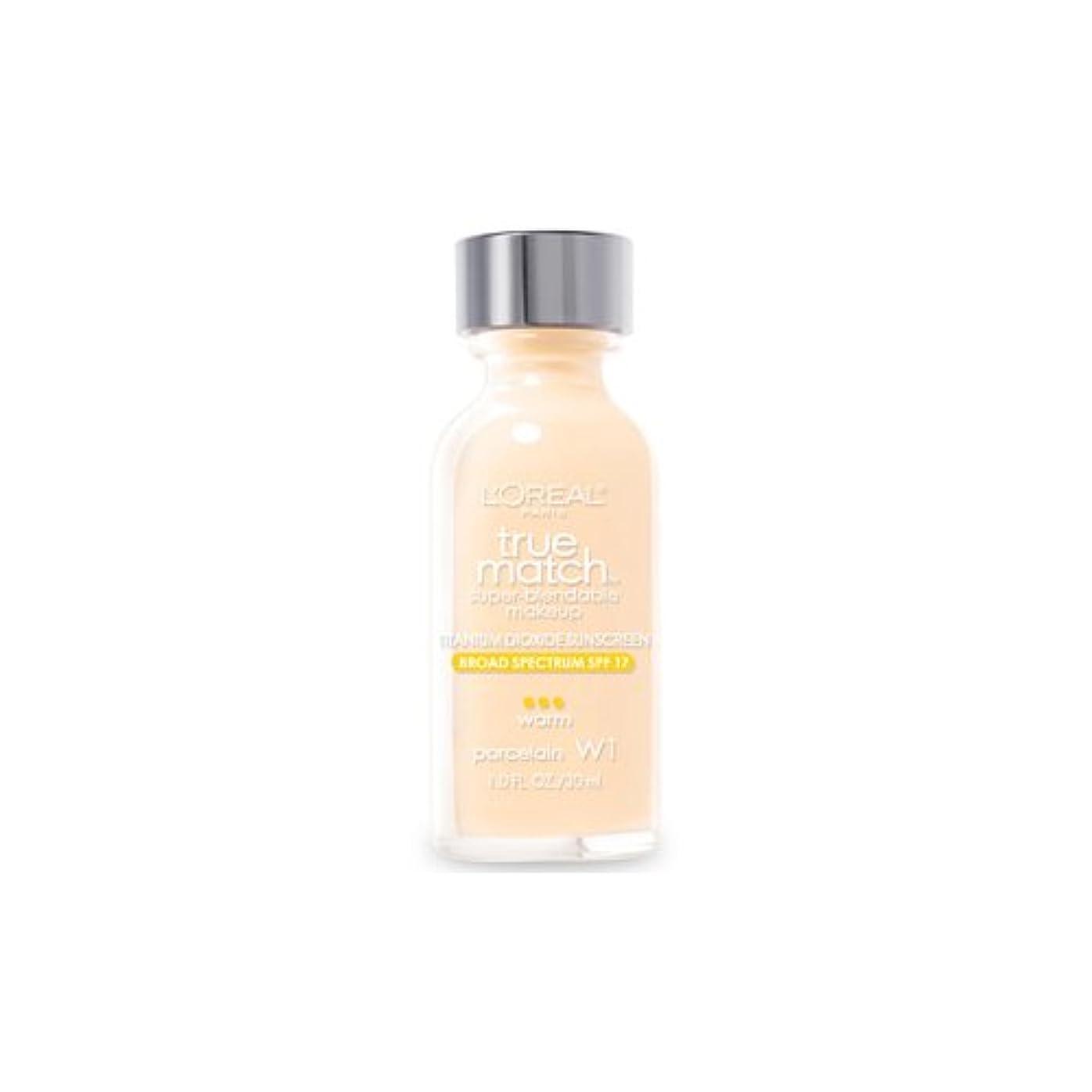 ジムアライアンス廃棄(3 Pack) L'OREAL True Match Super Blendable Makeup - Porcelain (並行輸入品)