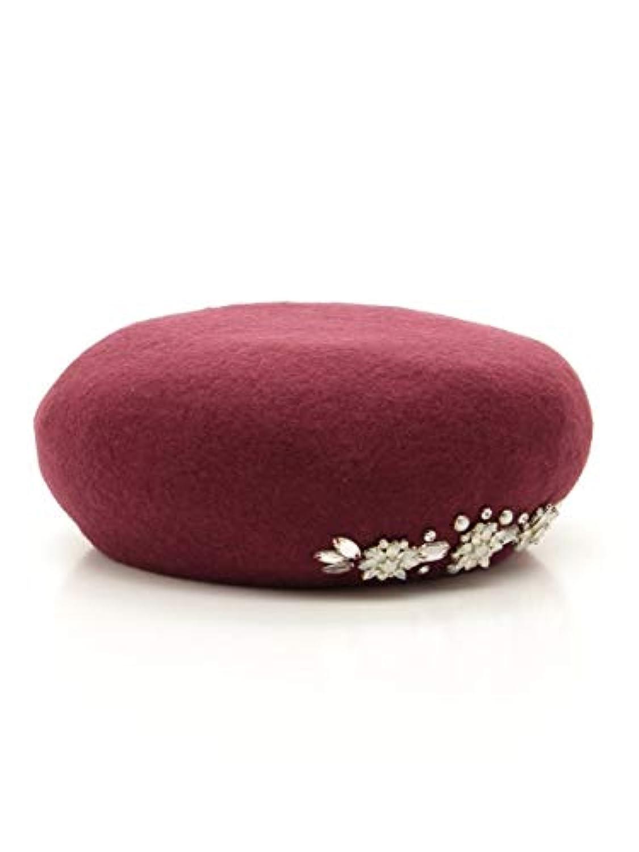 MIIA (ミーア) ビジュー付きベレー帽