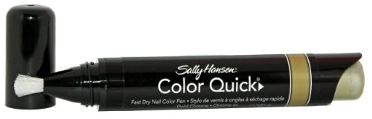 不忠敬意を表する吸い込むSALLY HANSEN COLOR QUICK FAST DRY NAIL COLOR PEN #02 GOLD CHROME