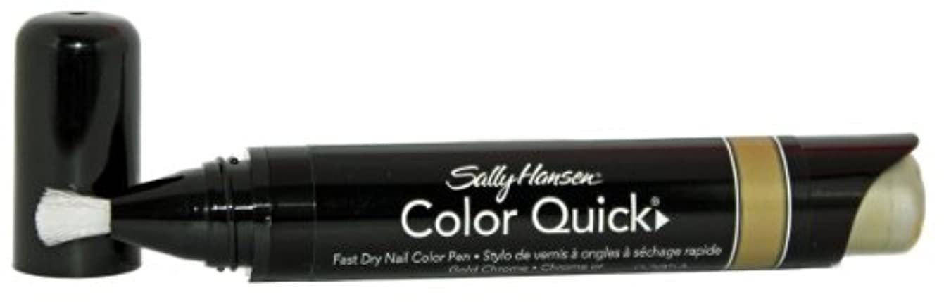 ボランティア必需品運動SALLY HANSEN COLOR QUICK FAST DRY NAIL COLOR PEN #02 GOLD CHROME