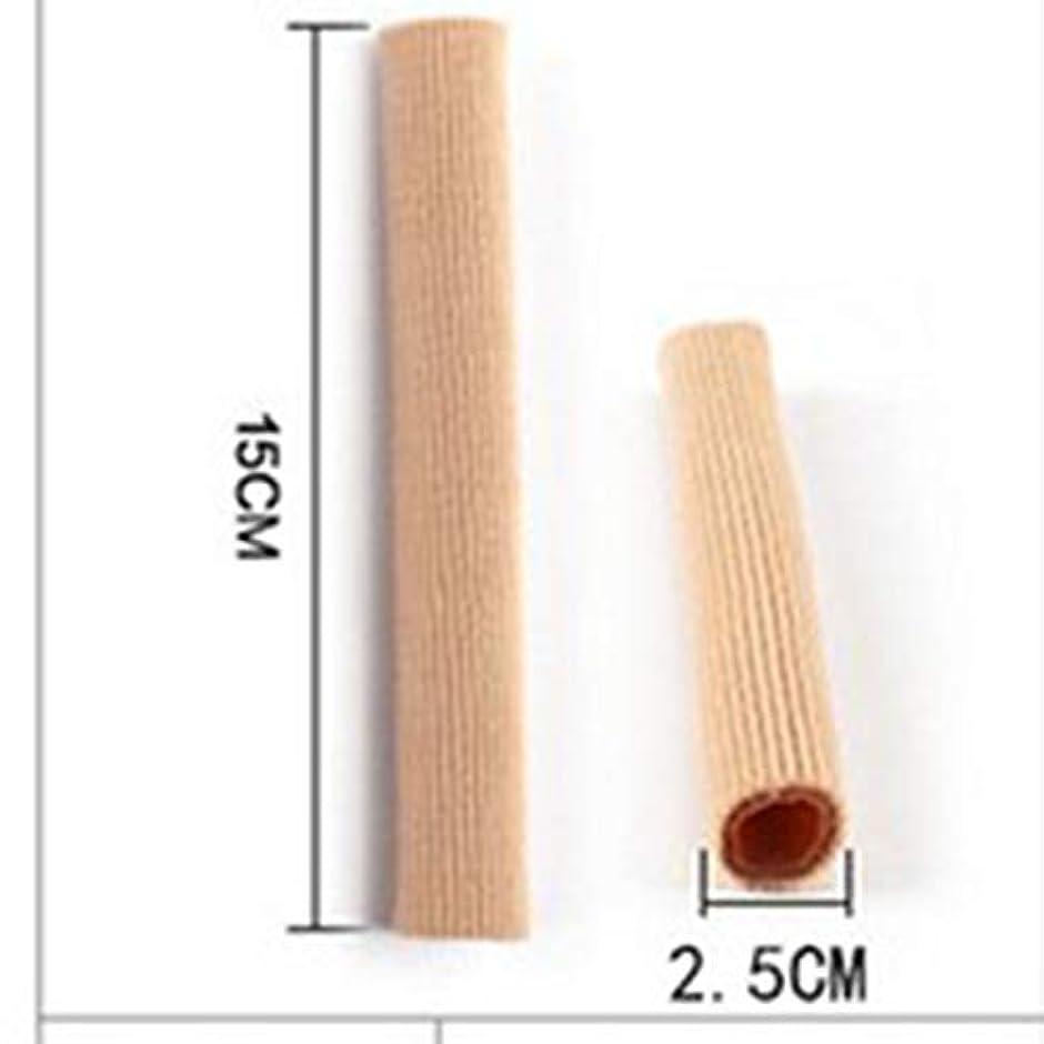 鉛筆足音木製Open Toe Tubes Gel Lined Fabric Sleeve Protectors To Prevent Corns, Calluses And Blisters While Softening And...