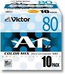 Victor ミニディスク 80分 カラーミックス 10枚 10MD-80LX 画像