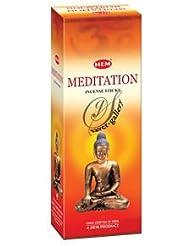 Hem Meditation Incense Sticks (9.3 cm X 6.0 cm X 25.5cm, Black )