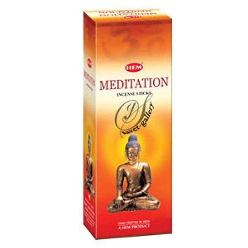 紳士あえぎ主張するHem Meditation Incense Sticks (9.3 cm X 6.0 cm X 25.5cm, Black )