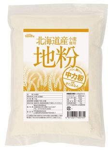 北海道産小麦使用 地粉(中力粉) 1kg※15個セット※送料込