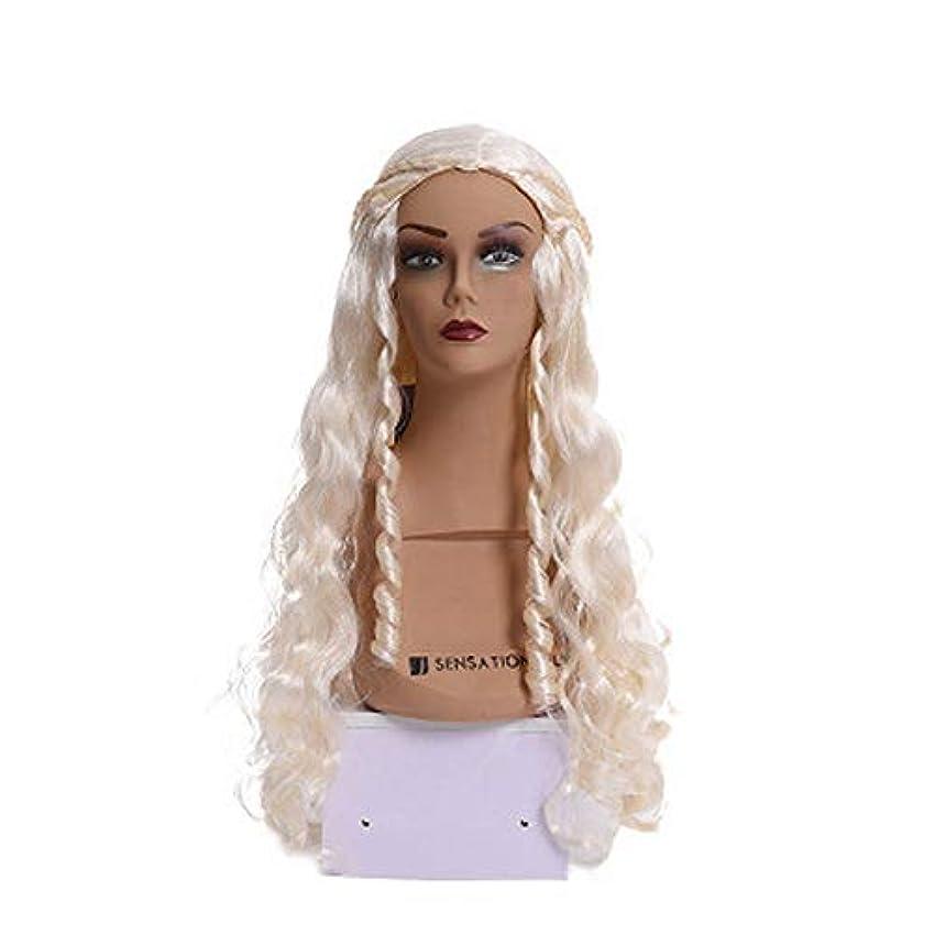 女性用カラーウィッグ、ポニーテールのロリータロングカーリーコスプレウィッグ、高密度温度合成ウィッグコスプレヘアウィッグ、耐熱ファイバーヘアウィッグ、23.5インチ
