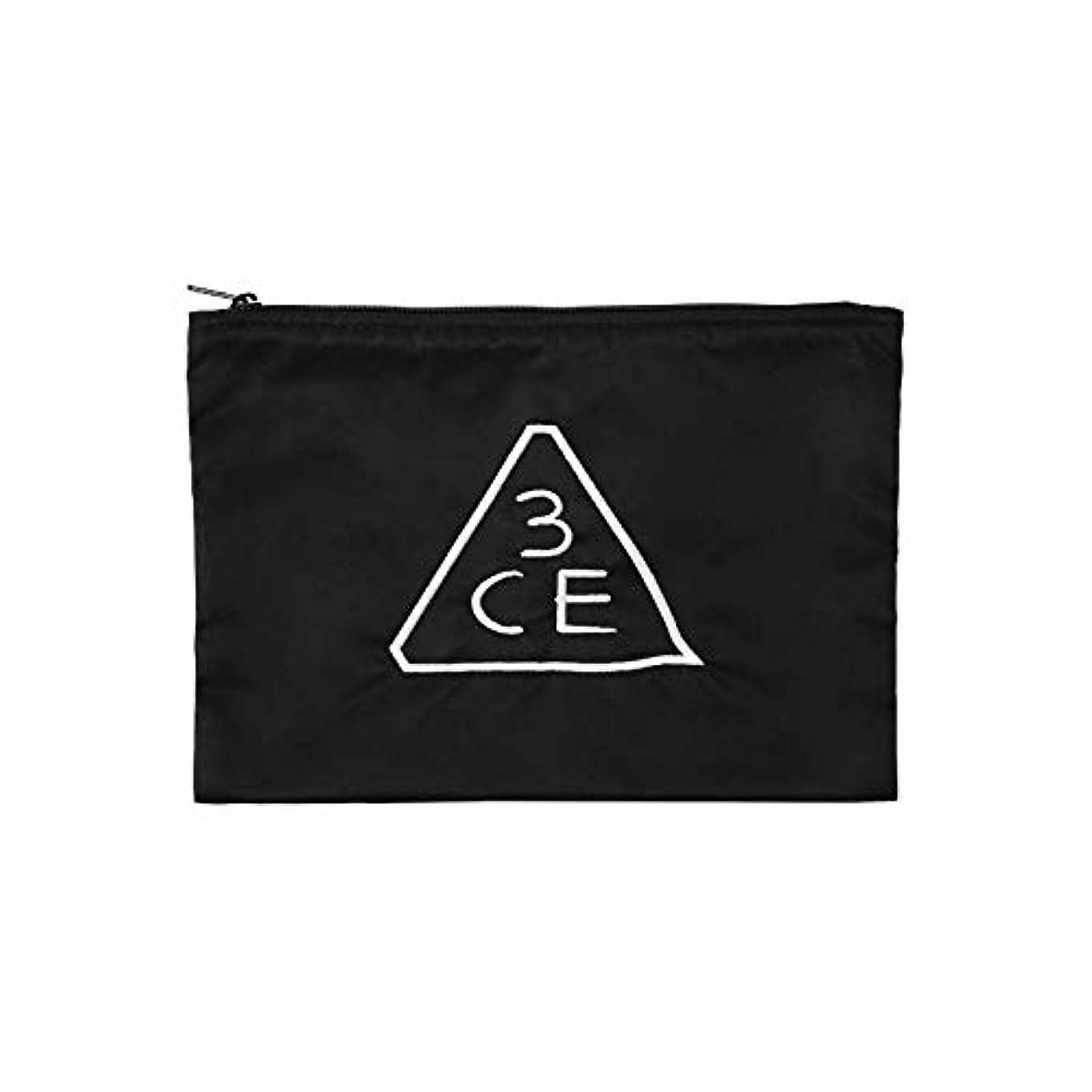 文法修士号軽減する3CE フラットポーチ FLAT POUCH MEDIUM #BLACK [並行輸入品]