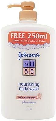 Johnson's PH 5.5 Nourishing Body Wash with Almond Oil, 750ml + 250ml (F