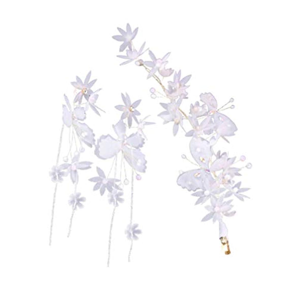 化学者鮮やかな豊かなTINKSKY おしゃれ ピアス 髪飾り ヘアピン 胡蝶デザイン かわいい ギフトレディース 人気 高級感 3点セット