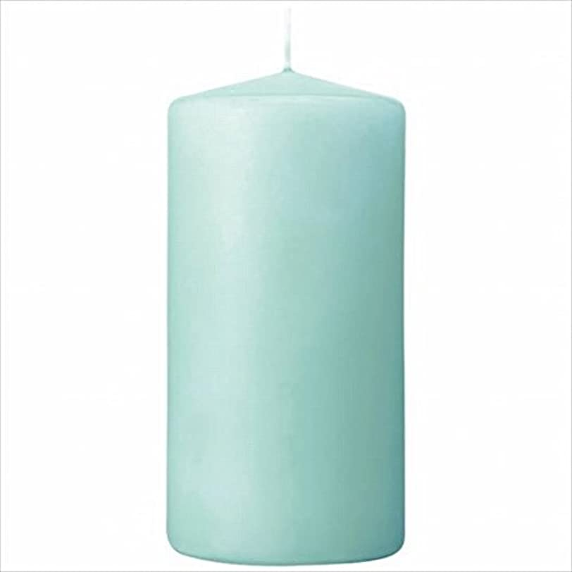 見る人物理的な哀れなカメヤマキャンドル(kameyama candle) 3×6ベルトップピラーキャンドル 「 ライトブルー 」