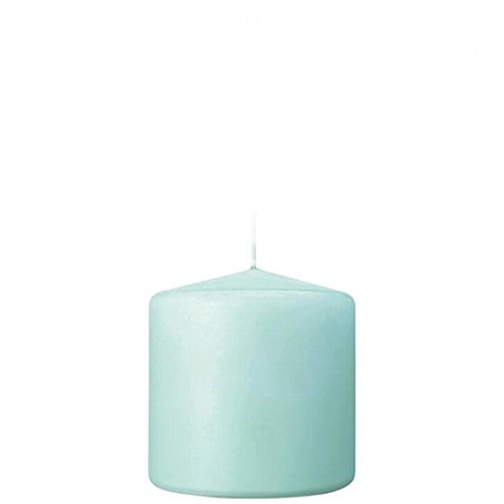 糸賃金絡まるカメヤマキャンドル(kameyama candle) 3×3ベルトップピラーキャンドル 「 ライトブルー 」