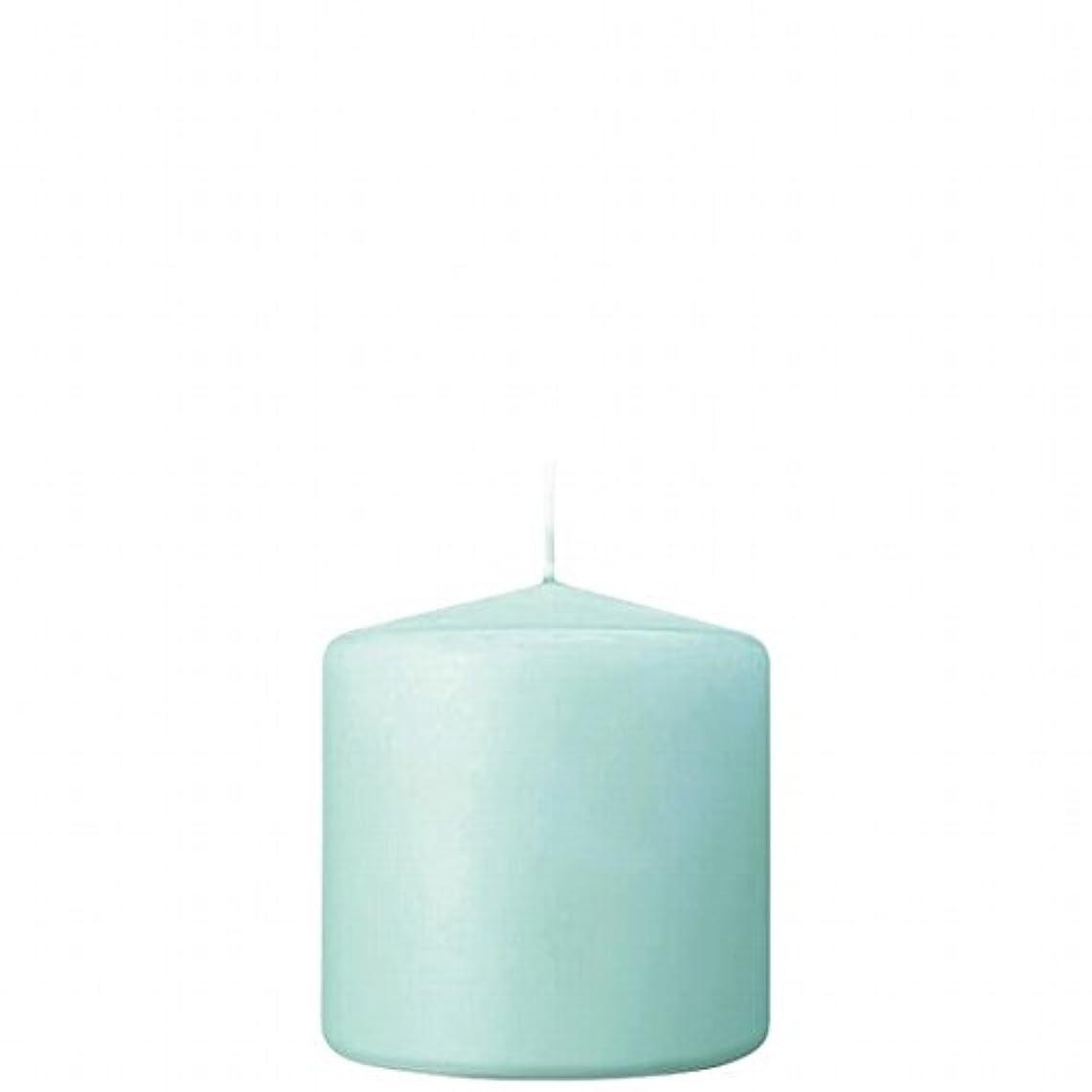 争いエキスクライストチャーチカメヤマキャンドル(kameyama candle) 3×3ベルトップピラーキャンドル 「 ライトブルー 」