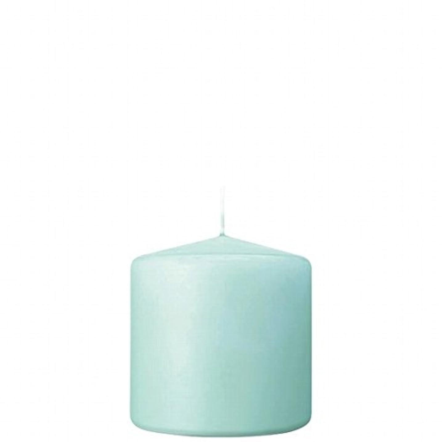 傀儡不確実ハブカメヤマキャンドル(kameyama candle) 3×3ベルトップピラーキャンドル 「 ライトブルー 」