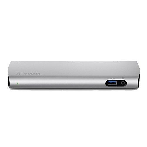 belkin Thunderbolt 3ドック Macbook Pro 2016/2017対応 85w給電 ケーブル1m付[国内正規品]Express Dock HD F4U095JA-A