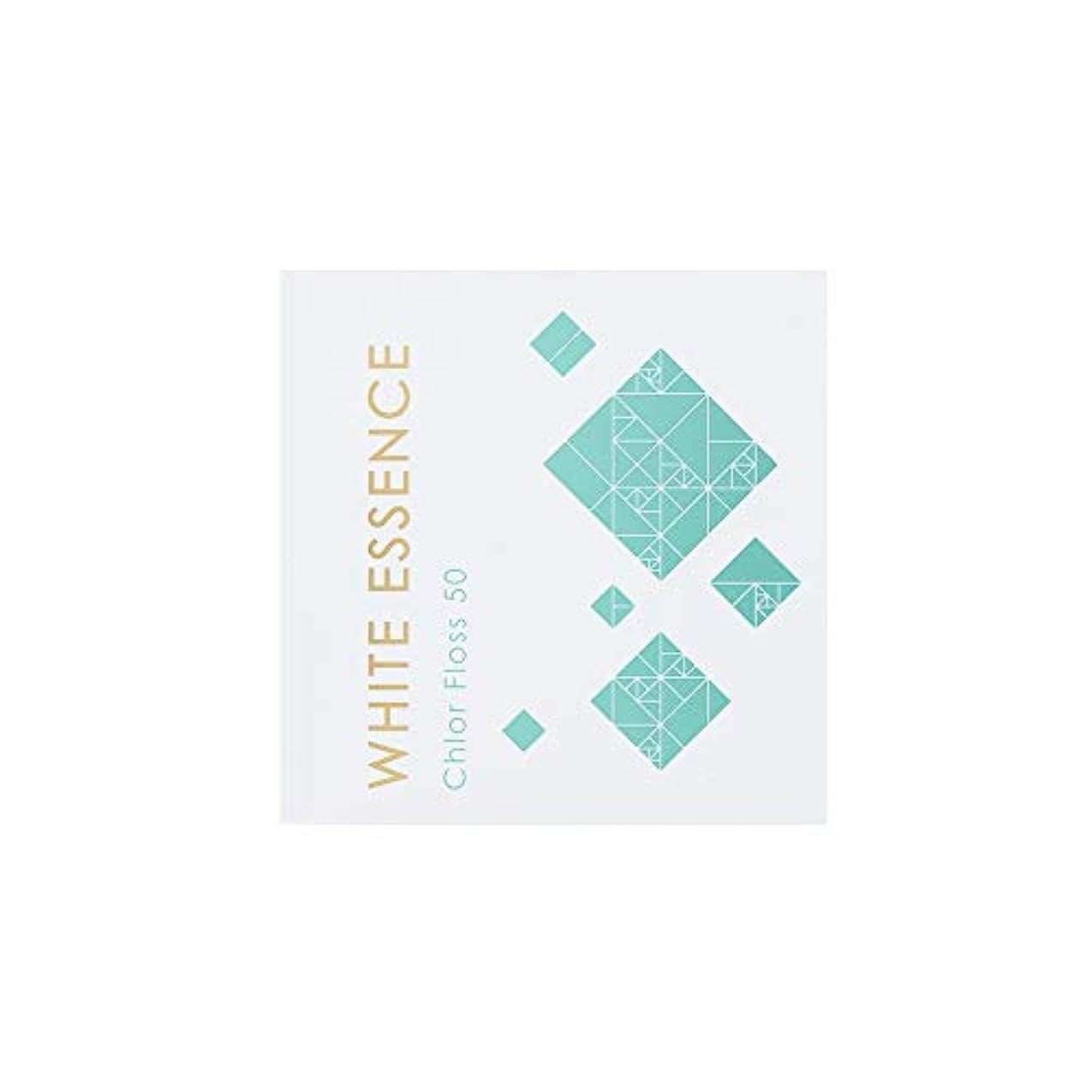 優しい寛容な安定フロス 歯科用 クロルヘキシジン配合 50メートル ホワイトエッセンス クロルフロス50