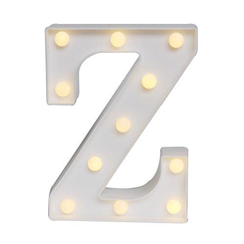 LED イルミネーション イニシャルライト アルファベットライト ホームイベント インテリア ギフト (Z)