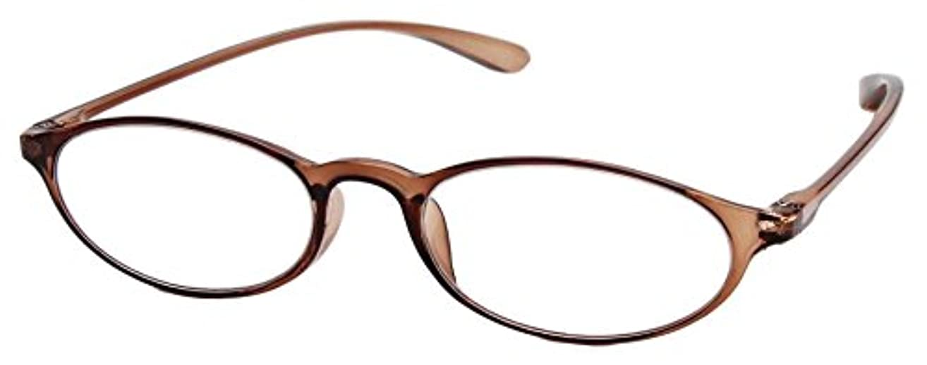 不正豊富ピュー老眼鏡 ベルエクレール リーディンググラス クリアブラウン +1.00