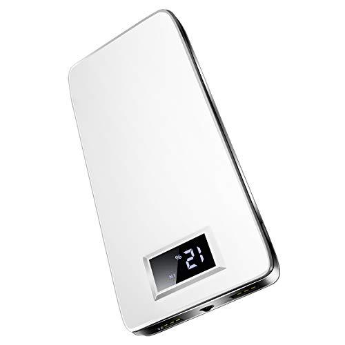 ロシヒ モバイルバッテリー 20000mAh超大容量 軽量 薄型 LCD残量表示 LEDライト付き ...