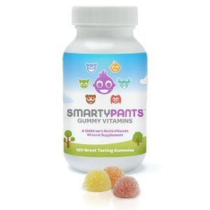 SmartyPants - 小児科医も薦める 子供用 グミ マルチビタミン オメガ3 ビタミンD The Total Vitamin Treat: Pediatrician-approved Gummy Multi-Vitamin with Omega 3 & Vitamin D: 120 count single bottle 並行輸入品