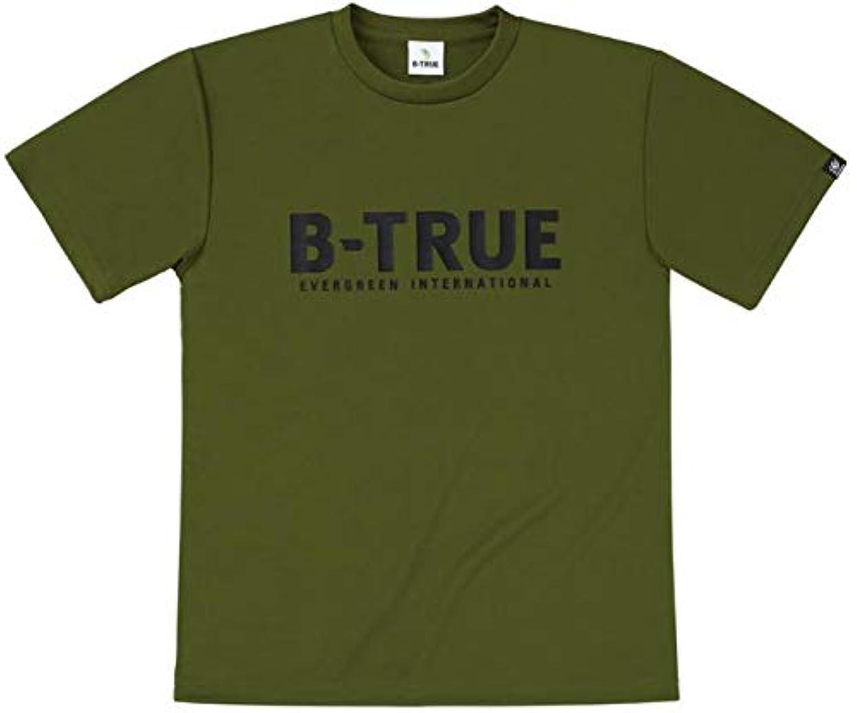 ぞっとするような想像力豊かな表現エバーグリーン(EVERGREEN) B-TRUE ドライTシャツ Aタイプ LL オリーブ.