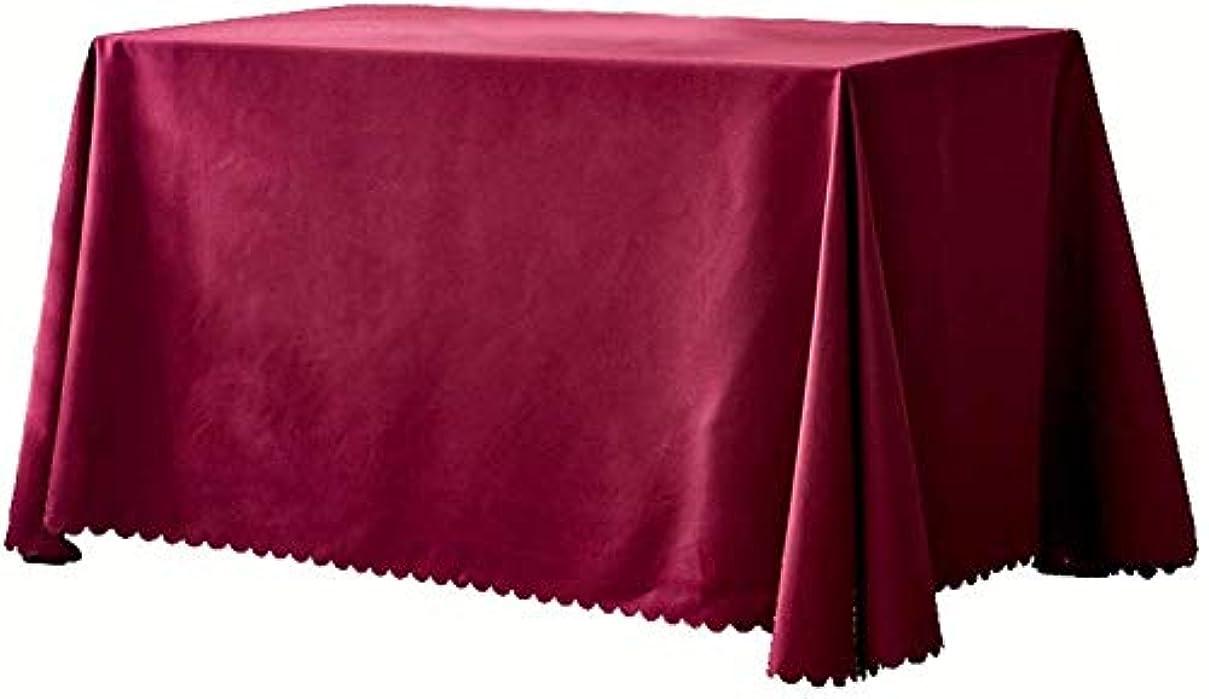 ねじれ構造樹皮長方形のテーブルクロスイージーケアダイニングテーブルカバー防水防油防滴耐久性のあるテーブルクロス結婚式無地テーブルカバー(色:A、サイズ:200 * 260cm)