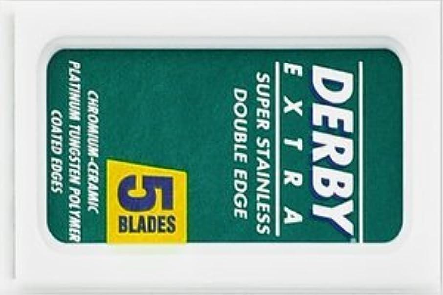 文言腹痛抑圧するDerby Extra 両刃替刃 5枚入り(5枚入り1 個セット)【並行輸入品】