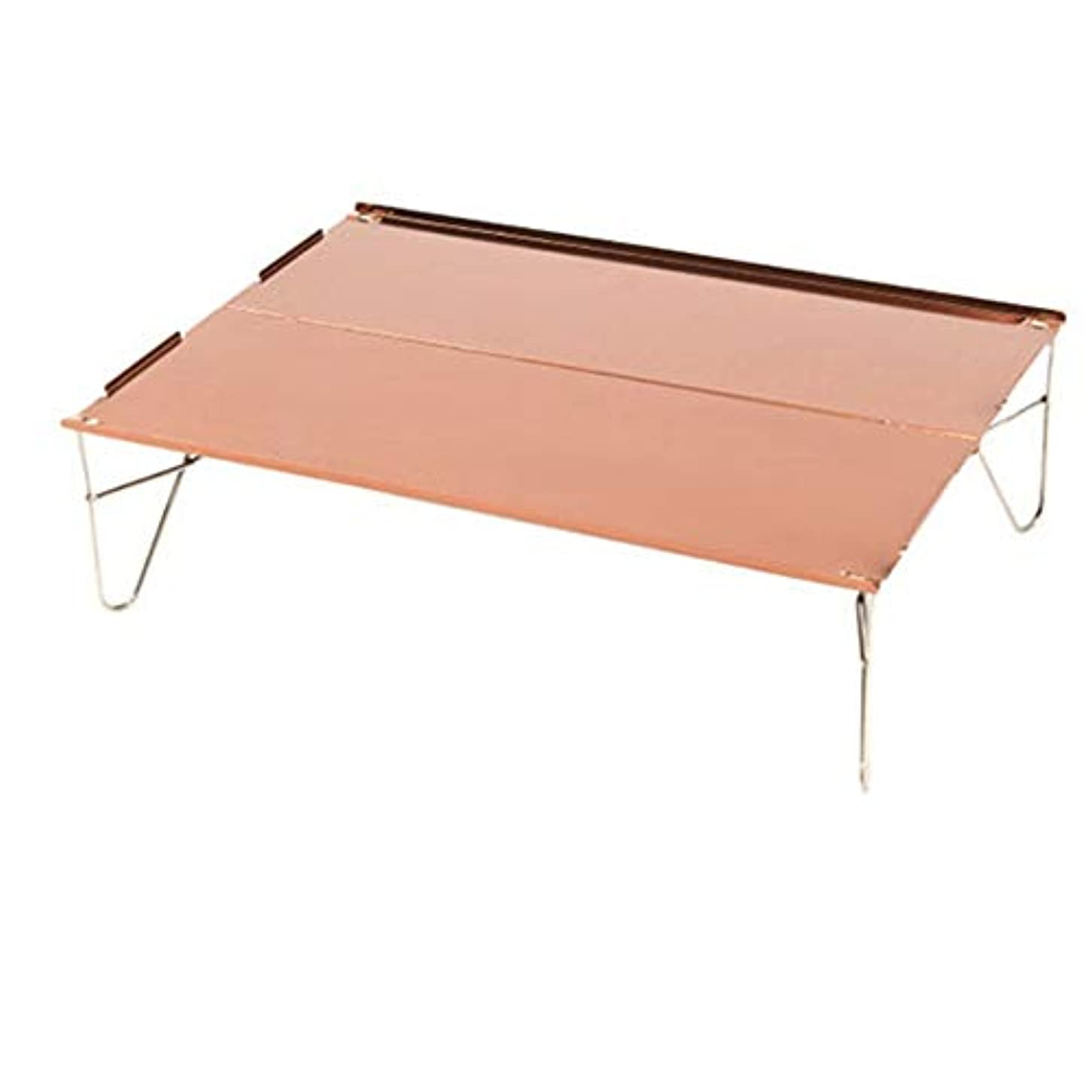 マラソン退却協定ピクニックのためのバッグのトップ簡単できれいなハードトップ折りたたみテーブルアルミテーブル付きポータブルキャンプテーブルをダイニングのために便利 アウトドア キャンプ用 (色 : Golden Rose, サイズ : 36*25*10.5cm)
