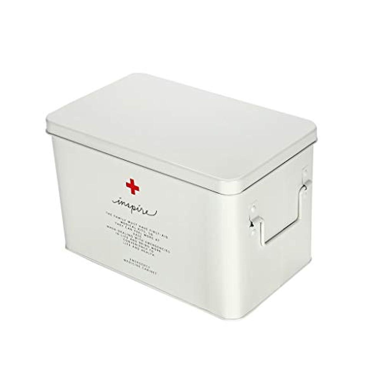 崖公使館病気LWBUKK 大型家庭用薬箱、家族用の大容量薬保管箱、金属製家族用救急箱 医療箱 (Size : 32.5cm×20.5cm)