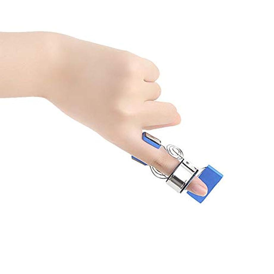 利得洞察力のある怠1ピース調整可能なフィンガー固定副木、指の痛みを軽減するための指骨折固定ブレースフィンガーエクステンション副木,S