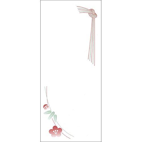 ササガワ タカ印 OA対応札紙 結びのし 無字 幅広 28-55 500枚(100枚袋×5冊箱)