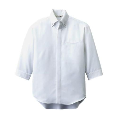 [チトセ]chitose【コックシャツ(七分袖)】NEW クラシックカラー《031-AS-7708》 (4L, C-1ホワイト)