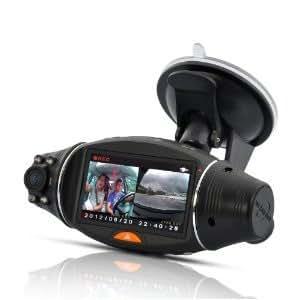 COM-SHOT 高画質 Wレンズ ドライブレコーダー 赤外線 Gセンサー 暗視機能搭載 簡単設定 MI-DR-RUGBY