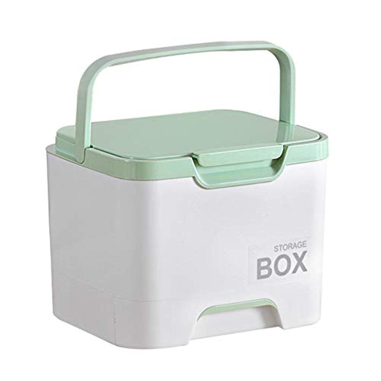 うぬぼれたレジギャロップポータブル薬収納ボックスオーガナイザー、取り外し可能なコンパートメントファミリー緊急キットピルケース、25 * 20 * 19.5cm(4色)