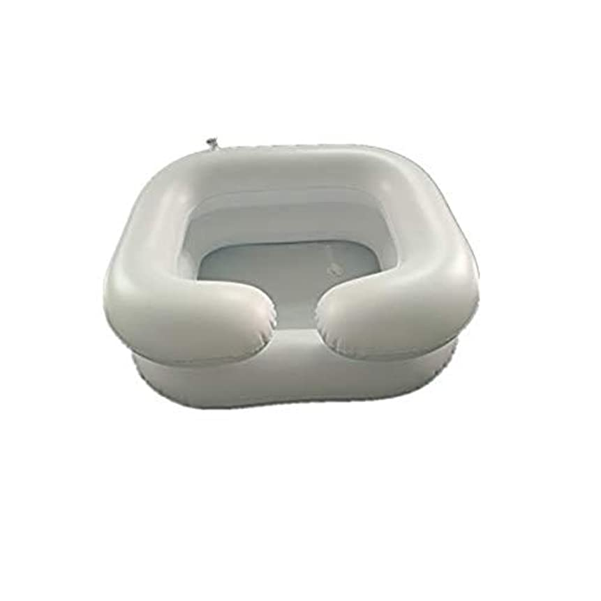 メジャー乱気流編集する膨脹可能なシャンプーの洗面器の入浴用具-ベッドの毛を洗いなさい
