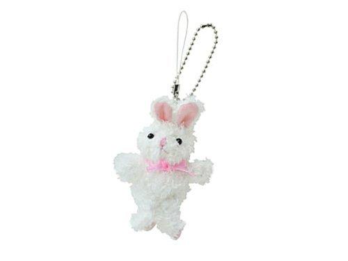 [해외]쿳삐 토끼 스트랩 키 체인 화이트 L5870515/Cupy Bunny Strap Key Chain White L5870515