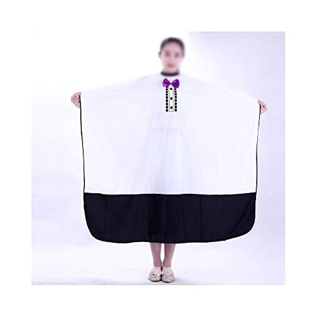 決めます上まさにサロンケープをスタイリングユニセックス髪の蝶ネクタイ専門美容院ガウン モデリングツール