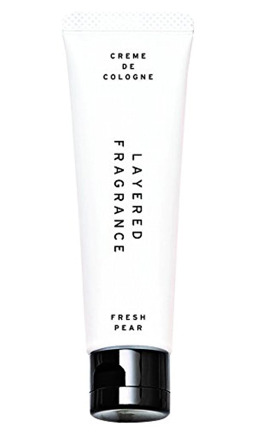 不可能なテンポほぼレイヤードフレグランス クレムドゥコロン フレッシュペア 30g 練り香水