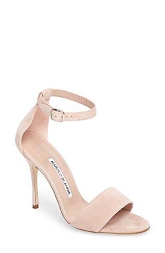 Manolo Blahnik シューズ サンダル Manolo Blahnik Tres Ankle Strap Sandal ( Light Blus [並行輸入品]