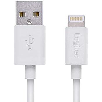 ロジテック ライトニングケーブル iphone 充電ケーブル apple認証 [スリムコネクター採用し、ケースを選ばない] iPhone & iPad iPod 対応 0.1m ホワイト LHC-UAL01WH