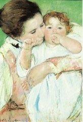 メアリー・カサット ポストカード Mother and Child