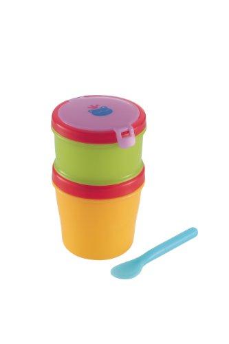 リッチェル Richell おでかけランチくん 赤ちゃんのクールお弁当箱 スプーン付 二段タイプ 保冷材付
