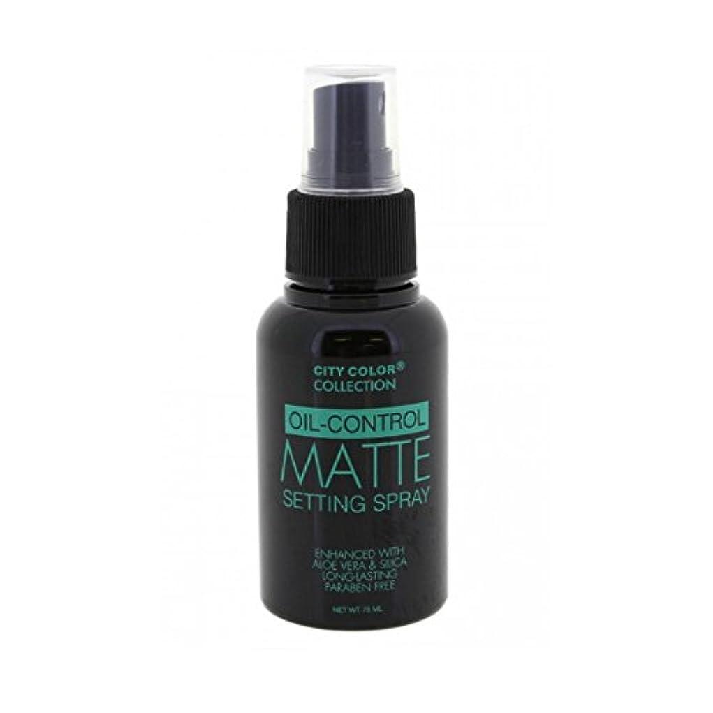 国籍竜巻拡張CITY COLOR Oil Control Matte Setting Spray (並行輸入品)